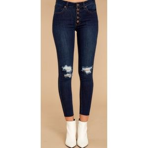 Just USA Do It Anyways Distressed Skinny Jeans 10